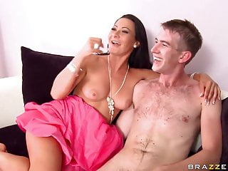 Milf Sandra Romain Gets Reverse Cowgirl Anal From Young Boy
