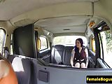 Inked cabbie babe spanking les before oral