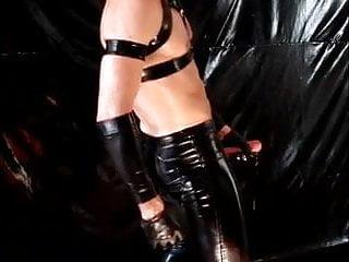 Leather cumshot...