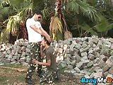 Big dicked daddy slams his little twink bitch bareback