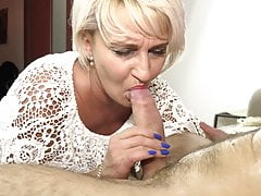 granny in stockings has a way with cock