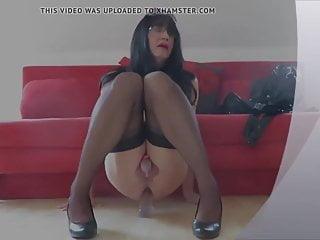 chastity rides in mini dildo Dagmar