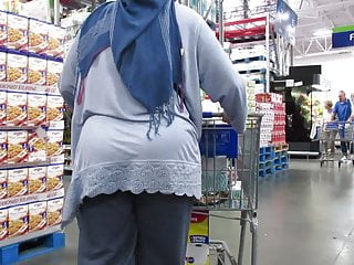 closep booty fat Hijab ass granny