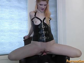 Mistress Stella femdom leg worship and face sitting