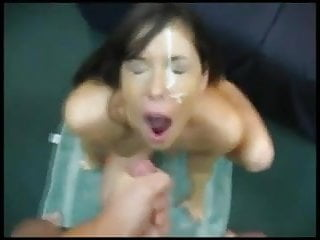 Ex girlfriend blast facial...