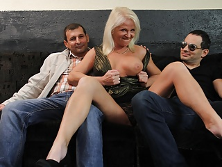 The Swinger Experience Presents Dirty Granny Steps Into Gangbang Mine Field