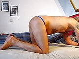 horny Tina ass licking and dildos to mature man