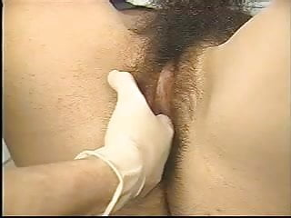 a real exam on a very hairy, hirsute young woman