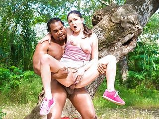 Chicas loca a tree outdoors...