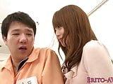 Japanese babe doggystyled after facesitting