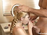 Young and sweet teen gets her cute face fucked
