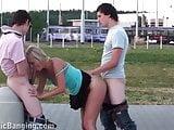Shocking PUBLIC young teen street gangbang sex orgy PART 4