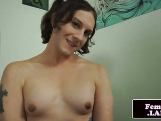 Solo tgirl analplay during loves masturbation