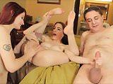 Violet Monroe and Anna de Ville: porn with Andrea Dipre
