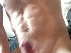Home alone playing with cock just British hot abs sexy