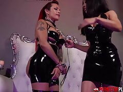 PORNSTARPLATINUM – Kinky Goddess Tangent Dominates TS Foxxy