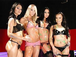 Aroused Audrey Bitoni has wild lesbian fantasies all the tim