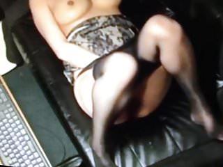Mirf panty hose masturbation...