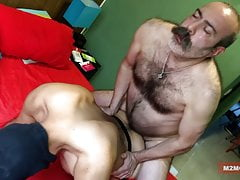 Hairy Machos Fucking a Dude