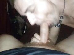 Blonde guy sucking cock