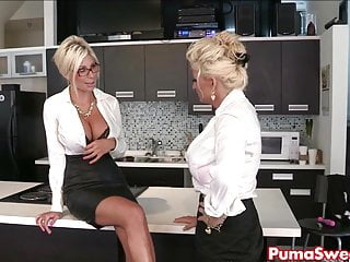 Puma swede amp bobbi are office slut...