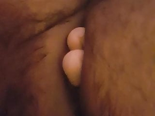 Double ended dildo in my sluts arse…. pops out