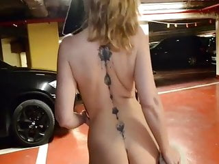 2 Ladies horny and nude in parking storage lesbian