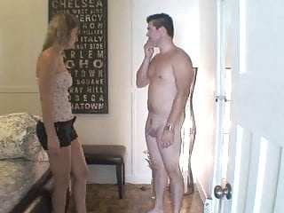 Femdom Cfnm Cumshot video: All you are allowed to do is jerk off with that tiny cock