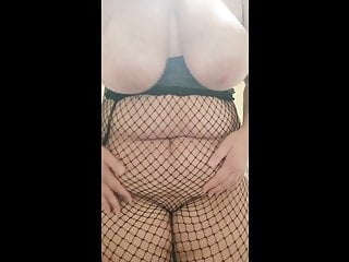 Joi black panties amp black fishnet pantyhose pussy...