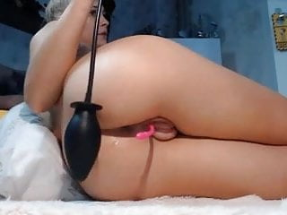 Sexy blond babe pig puffy pumped fat pussy...