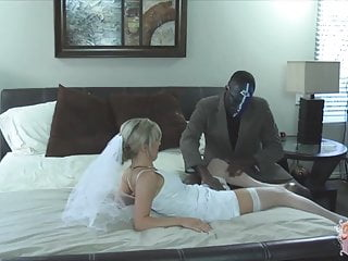Interracial Wedding Gangbang