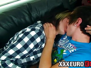 Twink lover before anal pounding...