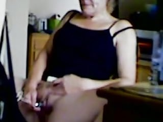 Big clit mast, visible contractions on hidden cam