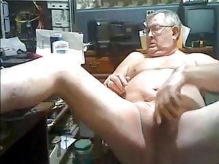 His workshop milking his dick...
