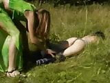 Russian lesbians get rough in the country