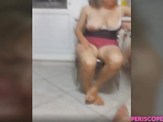 Oral Milf Webcam video: Russian MILF gets her her boobs groped and performs oral
