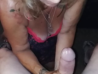 Bull's a BIG Cock Jacking Old and Squeezing OneTrue57Blonde