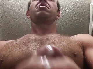 hot hairy daddy jacks out a load