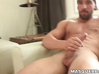 Handsome tattooed hunk Zack Lemec masturbates in hot solo