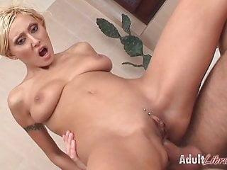 Sabrina gets anal in bathroom