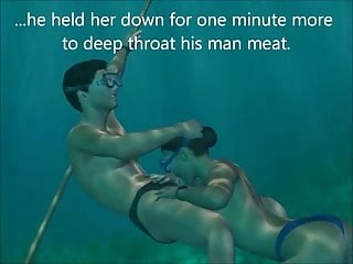 Sex Blowjob Milf video: 3D sex underwater