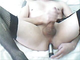 Another old jerking and dildo vid...