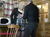 Mature Sally having he massive tits groped and fondled