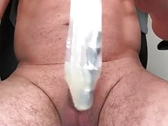 Injecting sperm from a BIG cock into my little dick!