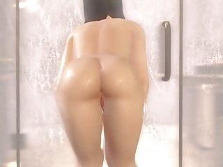 Nyotengu within the bathtub (DOAXVV Naked Mod)