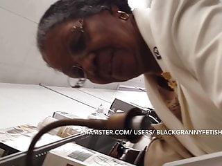 Single Hot Ebony Church Granny Upskirt