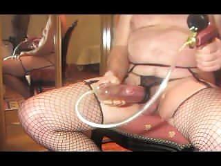 Pumping cock fetish pump...