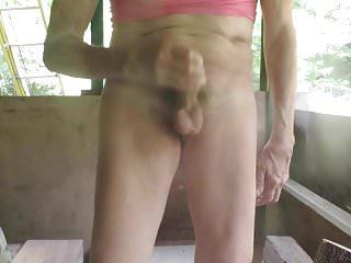 Sissy bitch masturbates slippery boner...