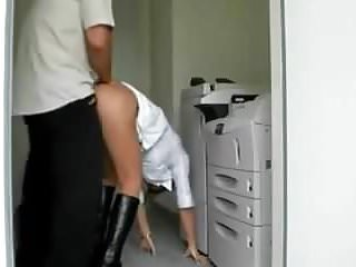 Amateur milf ass office...