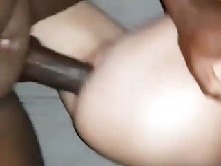 Black creampies white pussy